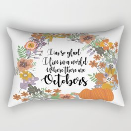 "Anne of Green Gables-L.M Montgomery-""Octobers"" design Rectangular Pillow"