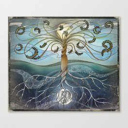 dichotomy of the rotation Canvas Print