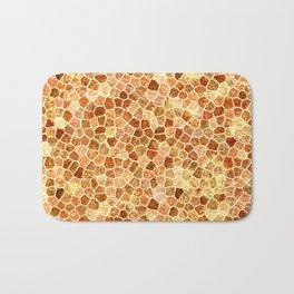 Faux Giraffe Skin Abstract Pattern Bath Mat