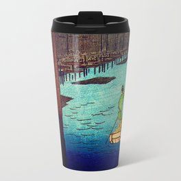 Beautiful Evening Across The Bridge Travel Mug