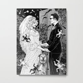 White Wedding Metal Print