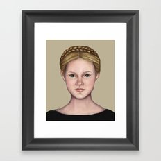 Blonde maiden Framed Art Print