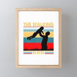 The Walking Dad The Walking Dad fathers day Gift Framed Mini Art Print