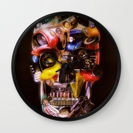 Hot Rod Skull Dark Wall Clock
