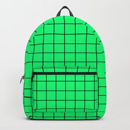 Acid Green and Black Grid - more colors Backpack