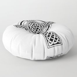 Celtic Knot Cross Tattoo Floor Pillow