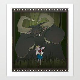 Monster girl in Horrorcolor Art Print