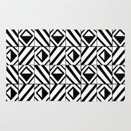 symetric tartan and gingham 8 -vichy, gingham,strip,square,geometric, sober,tartan Rug