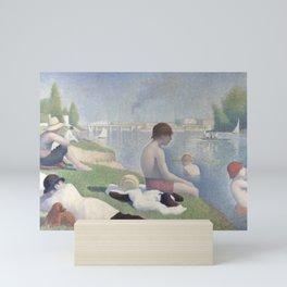 Bathers at Asnières Mini Art Print