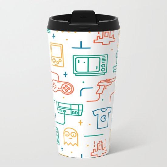 Pac Man Metal Travel Mug