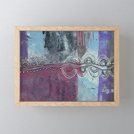 Twists and Turns Abstract Framed Mini Art Print