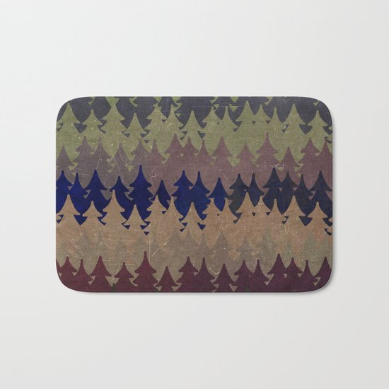 The secret forest at late afternoon- Dark tree pattern #Society6 Bath Mat