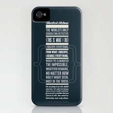 Sherlock - The Great Consulting Detective. iPhone (4, 4s) Slim Case