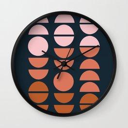 Modern Desert Color Shapes Wall Clock