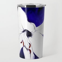 A Sketch Of A Lily Travel Mug