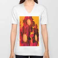 vintage flowers V-neck T-shirts featuring Vintage Flowers Q by Vitta