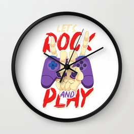 Let's rock and play - Gamer Gaming Wall Clock
