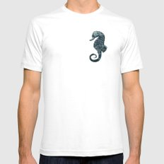 sea & horse White Mens Fitted Tee SMALL