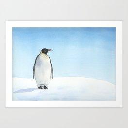 Penguin Watercolor Art Print