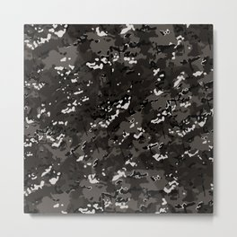 Taupe Brown Popular Multi Camo Pattern Metal Print