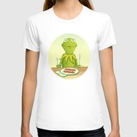 kermit T-shirts featuring Kermit Loves Facon by dellydel