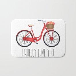 I Wheely Love You Bath Mat
