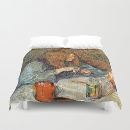 "Henri de Toulouse-Lautrec ""Madame Poupoule at Her Dressing Table"" Duvet Cover"