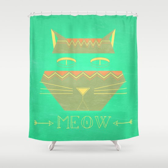 almost in cognito meow Shower Curtain