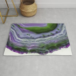 Purple and Green Agate Rug