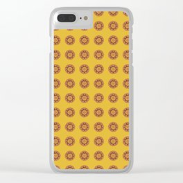 Retro Flower Wallpaper Clear iPhone Case