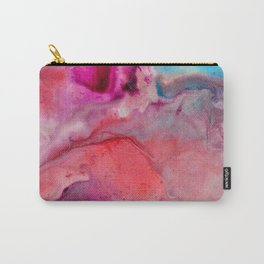 Abstract in Pink Carry-All Pouch