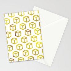 Geometric gold pattern Stationery Cards