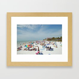 Fort Myers Beach Framed Art Print