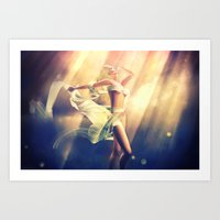 celestial Art Prints featuring Celestial by DeeDee
