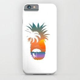 Summer Fruit Cool Pineapple Graphic T-shirt Sun Beach Palm Tree Sunbathe Birds Chair Sand Design iPhone Case