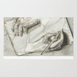 Drawing Hands, MC Escher Rug