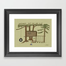 Tree Fort Framed Art Print