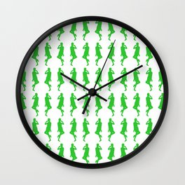 Green Bold Mod GoGo Girls Wall Clock