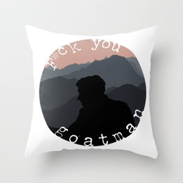 """F*ck you, Goatman"" Shane Madej Graphic Throw Pillow"