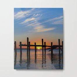 Sunset at Fernadina Beach Metal Print