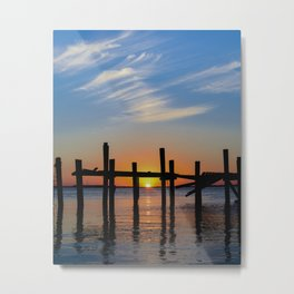 Sunset at Fernadina Beach Metal Print