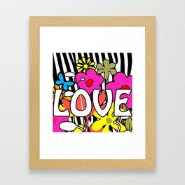 POP Love Framed Art Print