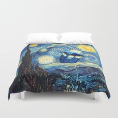 Soaring Tardis doctor who starry night iPhone 4 4s 5 5c 6, pillow case, mugs and tshirt Duvet Cover