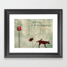 Don't be shy... Framed Art Print