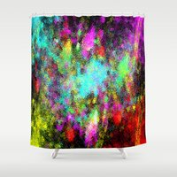 splatter Shower Curtains featuring Paint splatter  by Sammycrafts