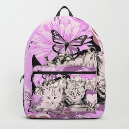 Frieda's Baby Cats in Pink Backpack