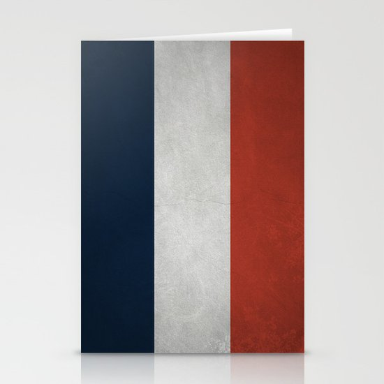 French Flag Stationery Cards