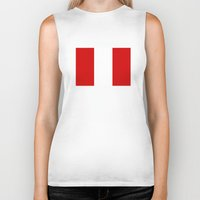 peru Biker Tanks featuring Peru country flag by tony tudor