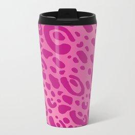 Pink Leopard Print Mug Pattern Metal Travel Mug