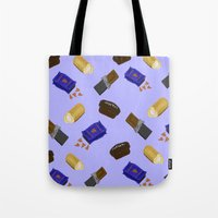 junk food Tote Bags featuring Junk Food by Danielle Davis